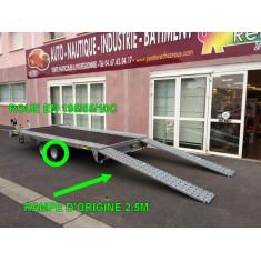 Remorque porte voiture pro 2500kg avec plancher Perez-remorque Béziers