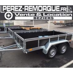 Bois double essieux 95002SB Perez-remorque Béziers