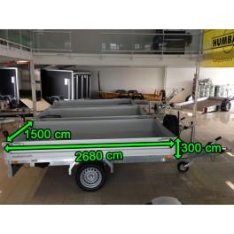 Remorque HUMBAUR benne PTAC 1500 kg Perez-remorque Béziers