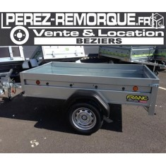 Arrivage : Remorque promo 2m basculante FRANC Perez-remorque Béziers