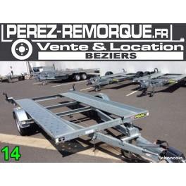 Remorque Porte voiture 1600 kg Perez-remorque Béziers