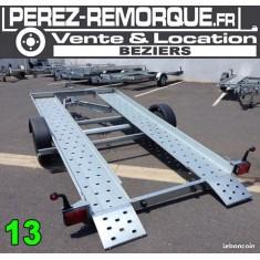 Remorque Porte voiture 1300 kg Perez-remorque Béziers