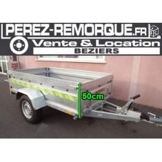 Remorque Pro freinée 9400F116+ Perez-remorque Béziers