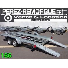 Remorque porte voiture PTAC 2700kg Perez-remorque Béziers