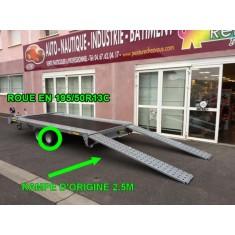 Remorque porte voiture pro 3000kg avec plancher Perez-remorque Béziers
