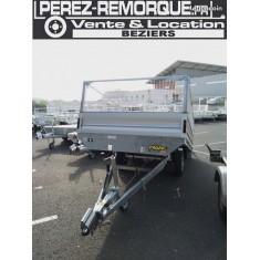 REMORQUE 3,4 x 1,8m + RIDELLES ALU + REHAUSSES GRILLAGEES Perez-remorque Béziers